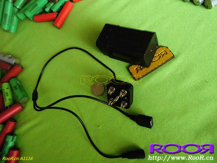 RooR 优质出.口18650电池盒移动电源充电宝5v 8.4 9v 12v输出