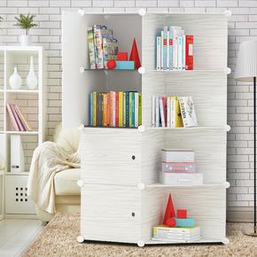 简易书柜自由组合树脂学生书架置物架成人书房客厅经济型简约书橱