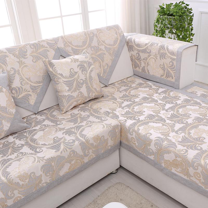 亚麻田园沙发垫
