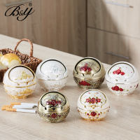 European retro creative zinc alloy ball with lid metal ashtray fashion personality home desk desktop home