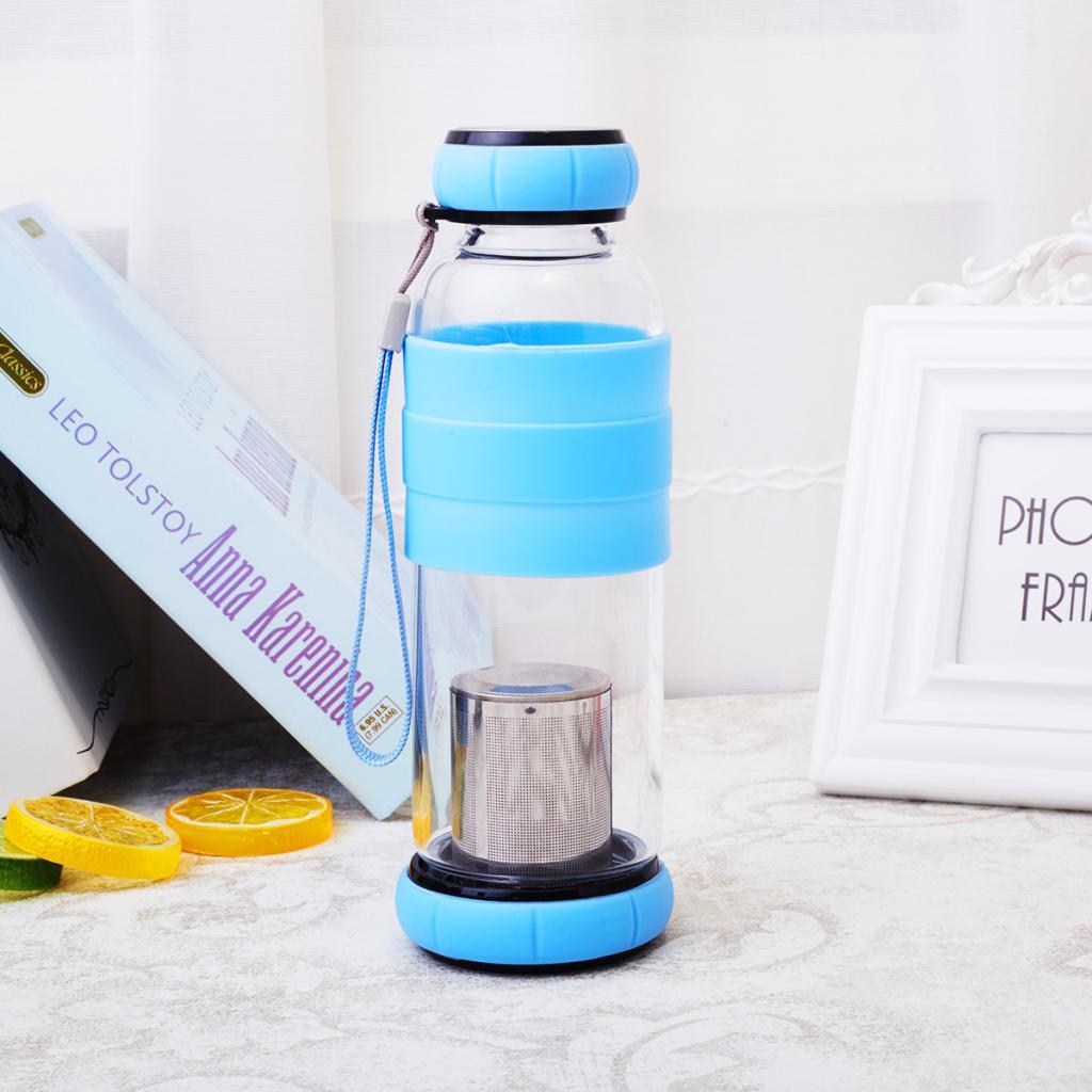 创鑫花茶杯便携泡茶玻璃杯子水杯玻璃茶杯创意随手杯水杯420ml1元优惠券