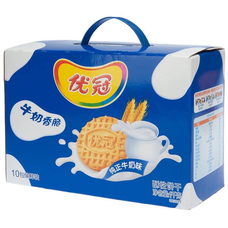 箱早餐大包装41000g优冠饼干牛奶香脆原味优冠亿滋天猫超市