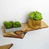美式挂壁层板实木一字隔板搁板厨房餐厅木头樟木墙上置物架机顶盒