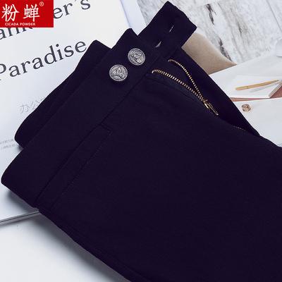黑色魔术裤打底裤女裤外穿秋冬加绒加厚高腰外穿九分小脚铅笔长裤