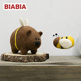 Biabia wool felt poke le diy material pack original handmade 2019 new little bee bear delivery tool