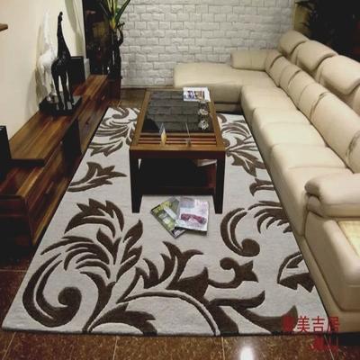 手工剪花简约欧式腈纶客厅地毯 茶几卧室满铺工程地毯 玄关可定做