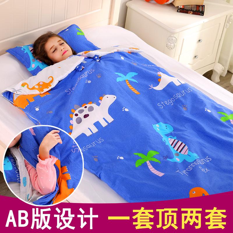 儿童睡袋防踢被冬厚款