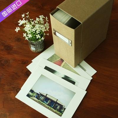 韩国进口六寸高档质感6寸相册盒子家庭宝宝记录照片珍藏保存盒