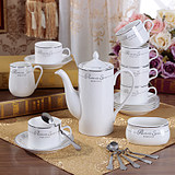 Explosion models special 15 European bone china coffee set / tea set Ceramic creative gift coffee cup set send 6 spoons