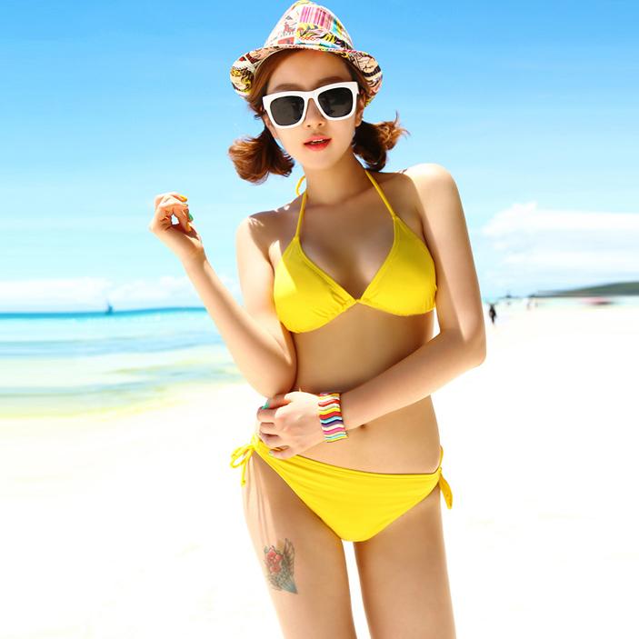 海波特泳衣bikini女大小胸聚拢分体性感温泉游泳衣三角比基尼泳衣