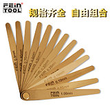 Brass feeler copper gap ruler high precision copper feeler gauge non-magnetic copper plug gauge thick gauge copper plug piece set 0.05-1