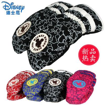 迪士尼儿童手套冬款男童女童宝宝手套户外防风手套 加绒保暖手套
