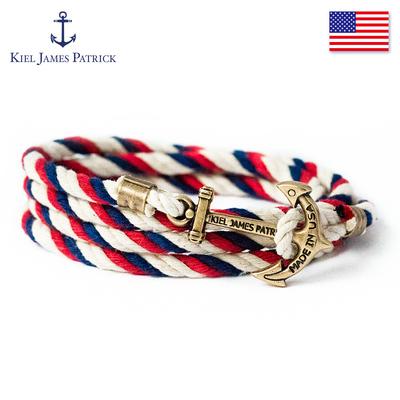 KJP手链女美国进口海洋风船锚男士手链欧美复古手绳情侣礼物潮