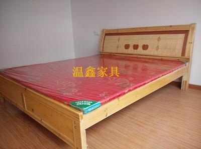 推荐合肥出租房家具简约实木床双人床1.8米刻花床印花卧室床送货是什么牌子