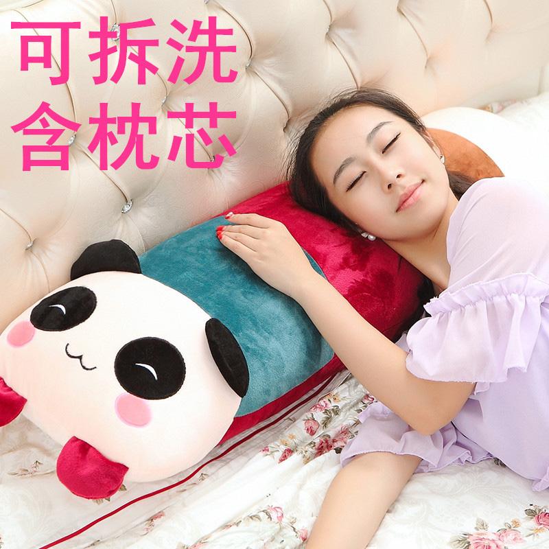熊猫卡通枕头