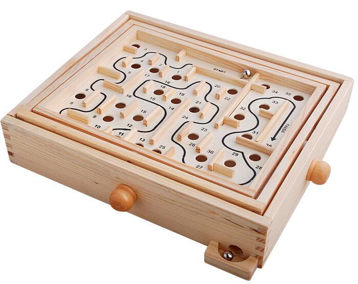Wooden ball beads labyrinth toy children adult elderly desktop intelligence puzzle class tour