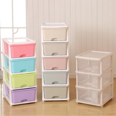 可自由叠加单层塑料抽屉式内衣收纳盒衣物收纳箱衣柜整理箱储物箱实体店