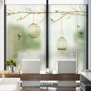 窗户贴纸阳台卧室透光不透明浴室客厅卫生间玻璃贴膜磨砂纸装饰贴