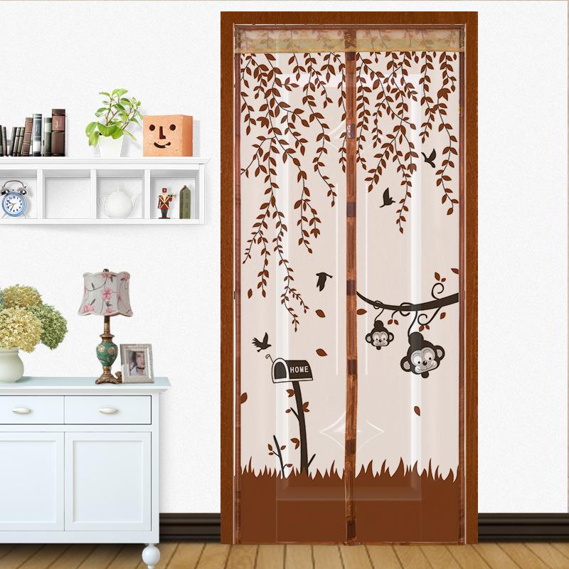 防蚊窗帘磁性软纱窗