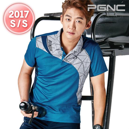 2017春夏新品韩国佩吉酷Peggy男羽毛球服运动服速干吸汗短袖T恤25