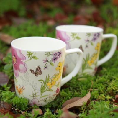 马克杯 陶瓷杯水杯茶杯 手柄韩式花草田园创意潮流咖啡杯牛奶杯
