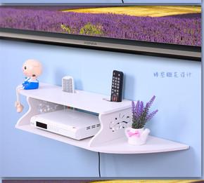 置物架木质机顶盒架壁挂架子墙壁装饰家居搁板隔板
