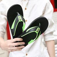 lorbuk/若步春夏季新品男士舒适夹脚人字拖鞋个性防滑休闲沙滩鞋