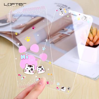洛夫特 苹果6plus钢化膜iphone6前后彩膜6s卡通可爱浮雕5.5寸手机贴膜全屏3D覆盖6p防指纹保护膜六
