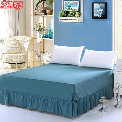 罗梦雨全棉床裙纯色韩式床笠式床罩单件纯棉床单夏季1.5/1.8米床