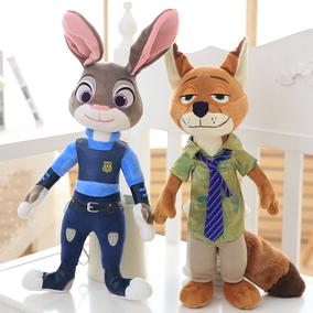 正版疯狂动物城小兔子朱迪公仔狐狸尼克毛绒玩具女孩儿童礼物女生