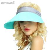 帽子女夏天韩版 百搭遮阳帽大沿骑车太阳帽防紫外线护脸折叠防晒帽
