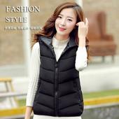 2016新款冬装外套加厚棉袄棉衣女马甲短款修身女士双面穿羽绒棉服