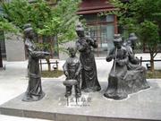 定制做玻璃钢仿铜树脂人物音乐主题雕塑城市户外景观园林摆件17
