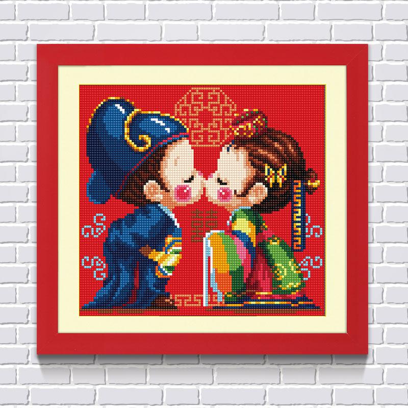 十字绣系列婚庆画