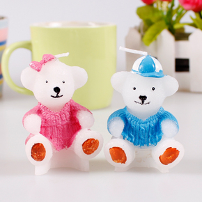 婚庆生日派对节日装扮用品小礼物生日蜡烛蛋糕蜡烛卡通小熊蜡烛