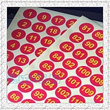 Sticky 3CM digital sticker paper Color round 1-300 digital sticker Dongguan printing can be customized