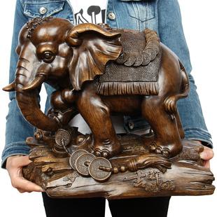 大象摆件一对招财风水客厅家居装饰品办公室开业礼品工艺品摆设