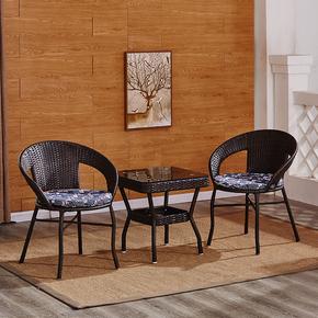 家用藤艺藤桌椅田园风成人桌椅椅子藤椅茶几滕椅休闲靠背椅老人