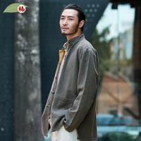 楠唐装中国风男装秋冬双面短外套男民族服装中老年复古中式中山装