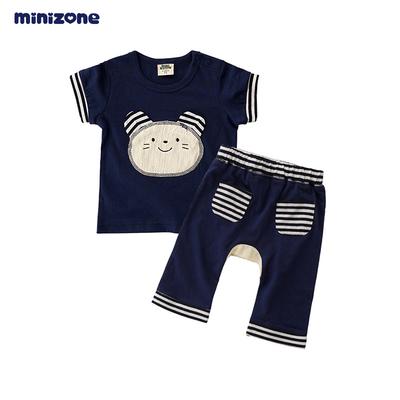 minizone宝宝儿童夏季短袖T恤PP裤套装0-3岁M1007