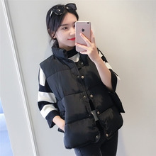 Cotton vest female autumn and winter vest short down cotton vest student vest shoulder female spring and autumn winter long coat horse
