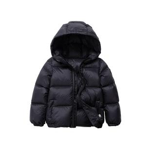 蒙克利冬装儿童羽绒服男童女童宝宝1-3岁中小童婴儿童装加厚外套