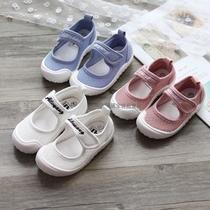 女童鞋子2018春季新款韩版3-6岁宝宝公主单鞋幼儿园室内鞋帆布鞋