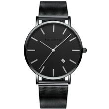 卡诗顿新款手表男潮流时尚男表石英表休闲简约钢带防水学生腕表