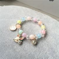 Korean girl child baby girl accessories jewelry beauty rabbit rabbit acrylic beads crystal beads wild beauty bracelet