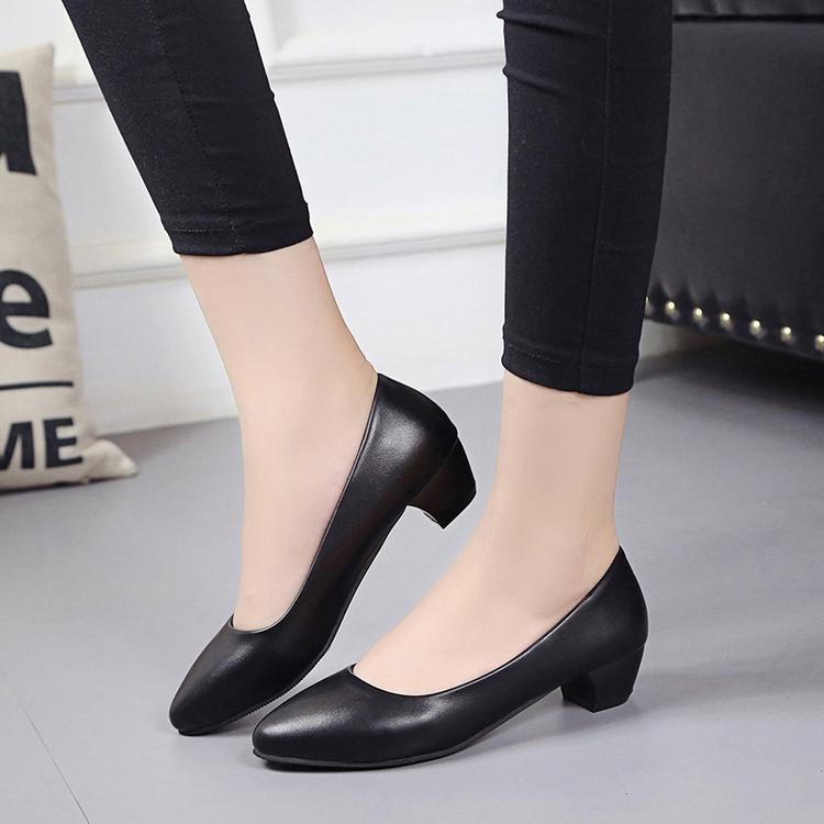 女鞋ol低中跟