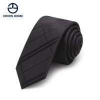 酒红色休闲领带男韩版窄版5cm黑色条纹格子个性小领带时尚潮款