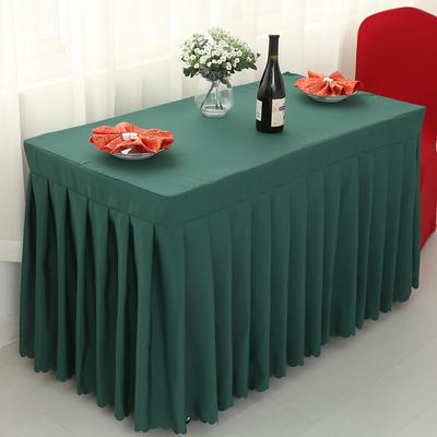 定制会议室桌裙桌布布艺台布订做展会签到台裙桌罩桌套长方形商务