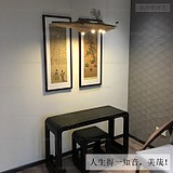 Listening to the piano picture New Chinese atmosphere, landscape, Zen, Chinese painting, painting, living room, dining room, vertical, framed decorative painting
