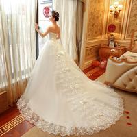 婚纱礼服2018新款孕妇抹胸新娘结婚长拖尾大码显瘦梦幻公主欧美女